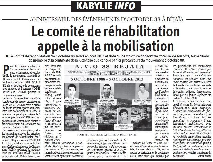 Le comité de réhabilitation du 5 Octobre appelle à la mobilisation dans 1. AU JOUR LE JOUR comite_rehabilitation